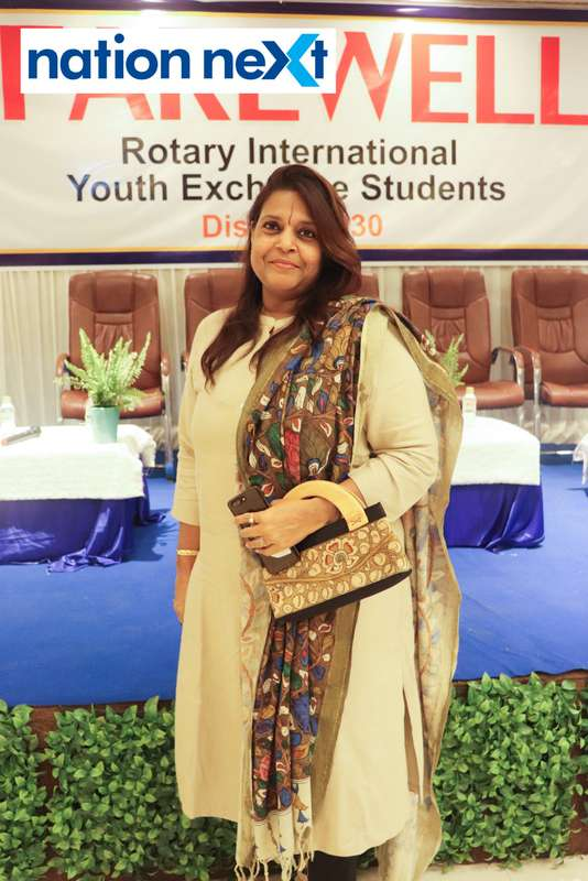 Geeta Rao at the farewell function of Rotary Youth Exchange students held in Nagpur