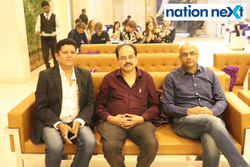 Manish Jaiswal, Manish Sanghvi and Mangesh Joshi at the farewell function of Rotary Youth Exchange students held in Nagpur