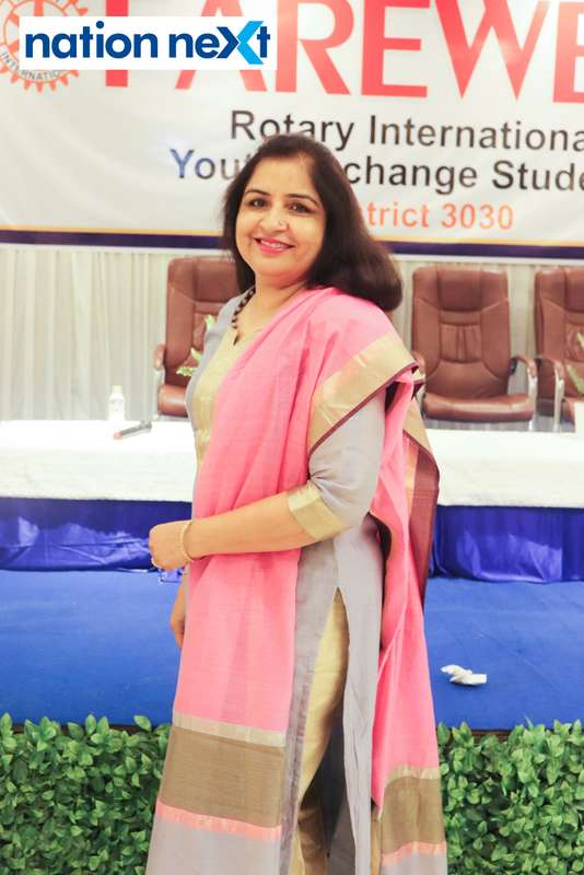 Pooja Khatri at the farewell function of Rotary Youth Exchange students held in Nagpur