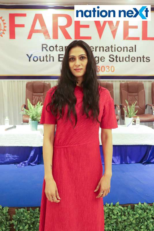 Ritu Jaiswal at the farewell function of Rotary Youth Exchange students held in Nagpur