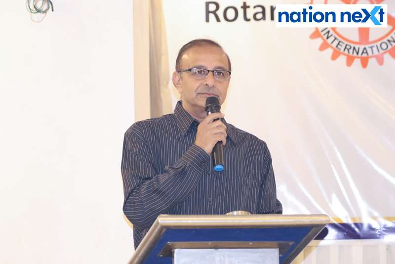 Tarun Patel at the farewell function of Rotary Youth Exchange students held in Nagpur