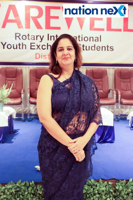 Dr Urvashi Yashroy at the farewell function of Rotary Youth Exchange students held in Nagpur