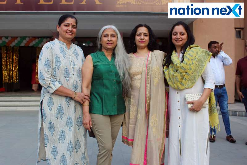 Kalpana Kinkhede, Arti Buty, Archana Buty and Madhuri Buty during the inauguration of Buty Cineplex in Nagpur