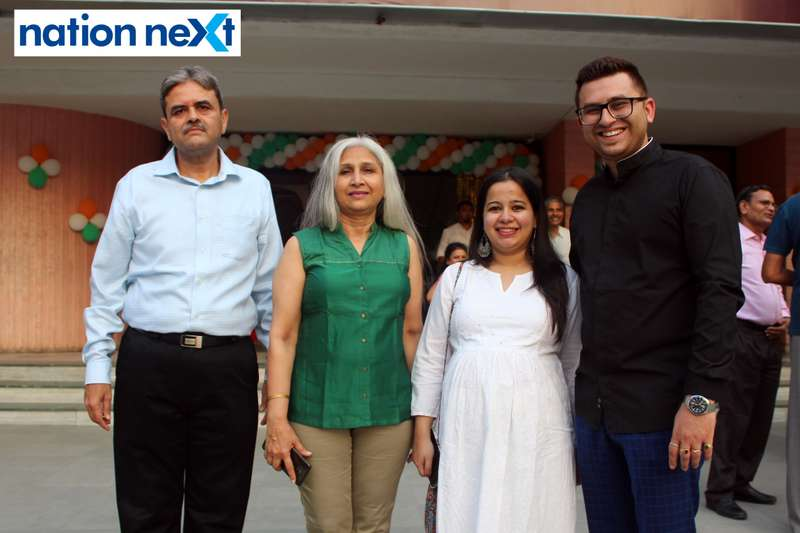 Buty Cineplex owner Vikram Buty with wife Arti Buty, daughter-in-law Dakshaja Buty and son Rohit Buty during the inauguration of Buty Cineplex in Nagpur