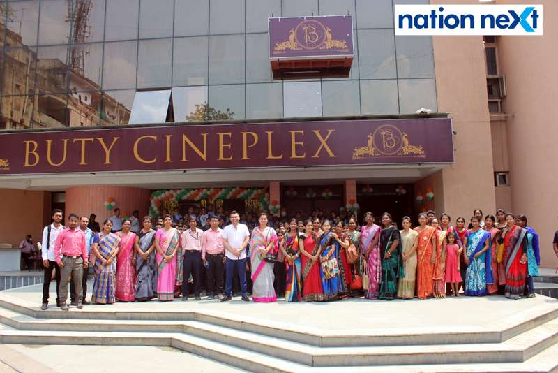Guests during the Holi special screening of 'Uri: The Surgical Strike' at Buty Cineplex in Nagpur