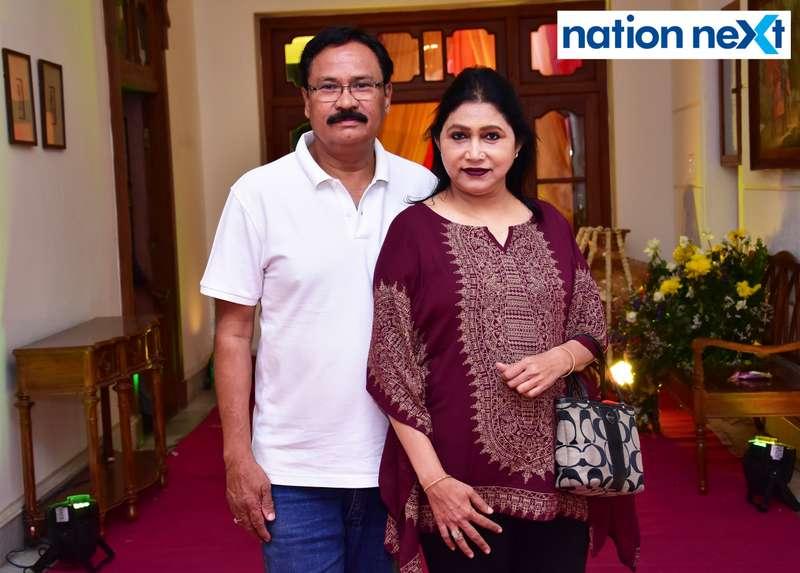 Anil and Surekha Ahirkar during Gondwana Club's Holi party in Nagpur