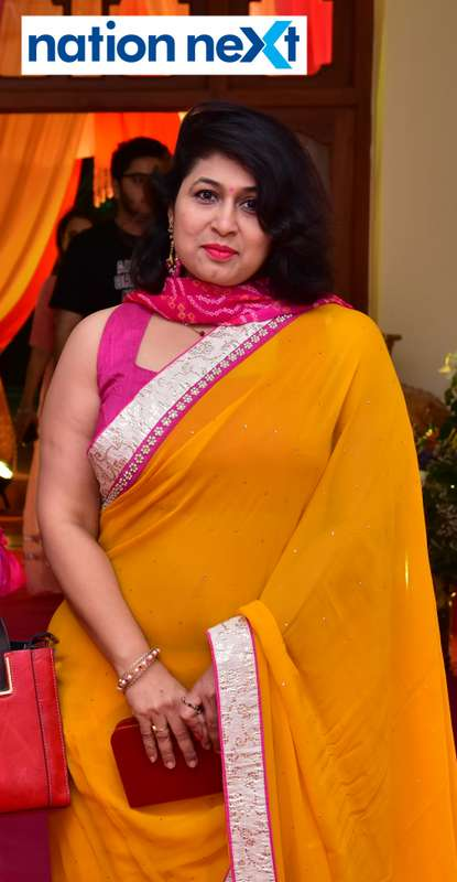 Aruna Purohit during Gondwana Club's Holi party in Nagpur