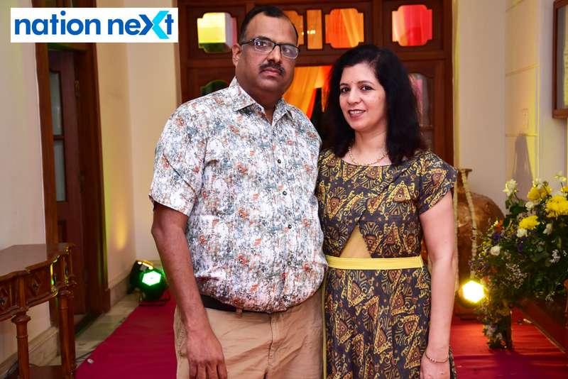 Ashish and Mamta Mehadia during Gondwana Club's Holi party in Nagpur