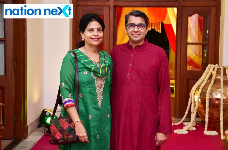 Deepali and Sameer Bendre during Gondwana Club's Holi party in Nagpur