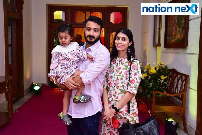 Rishi and Nikita Joshi during Gondwana Club's Holi party in Nagpur