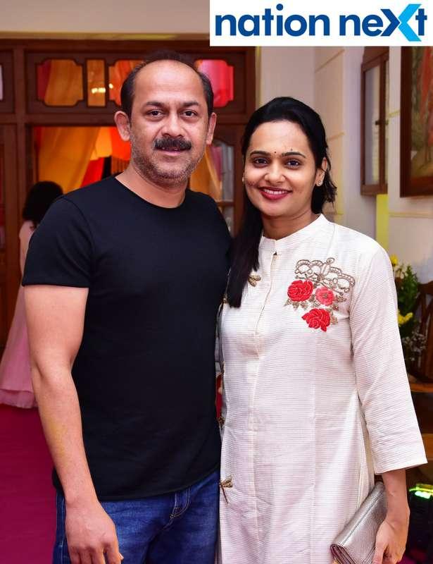 Samar and Jaee Jog during Gondwana Club's Holi party in Nagpur