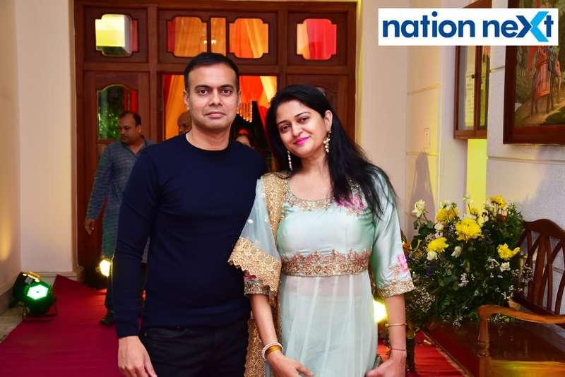 Saptarshi and Anandita Naha during Gondwana Club's Holi party in Nagpur