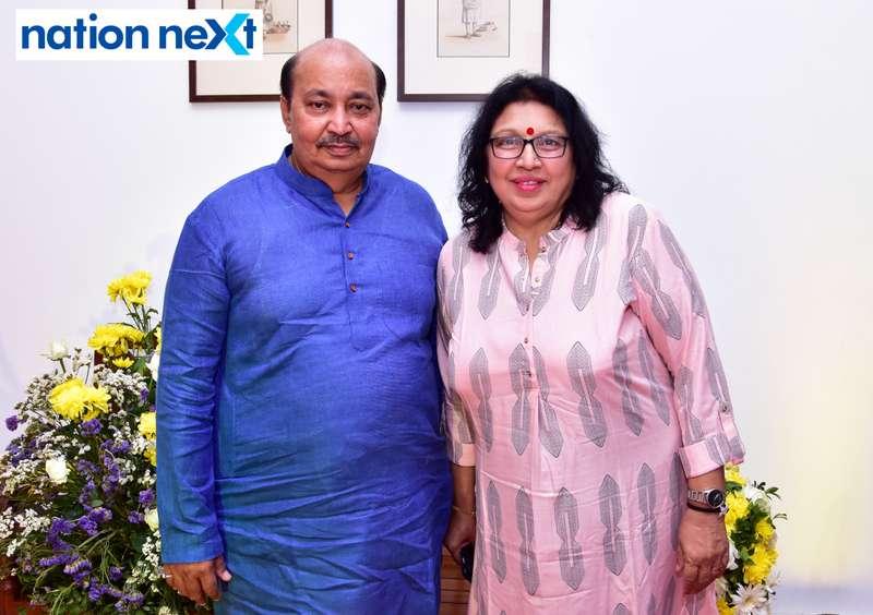 Shekhar and Rupa Rai during Gondwana Club's Holi party in Nagpur
