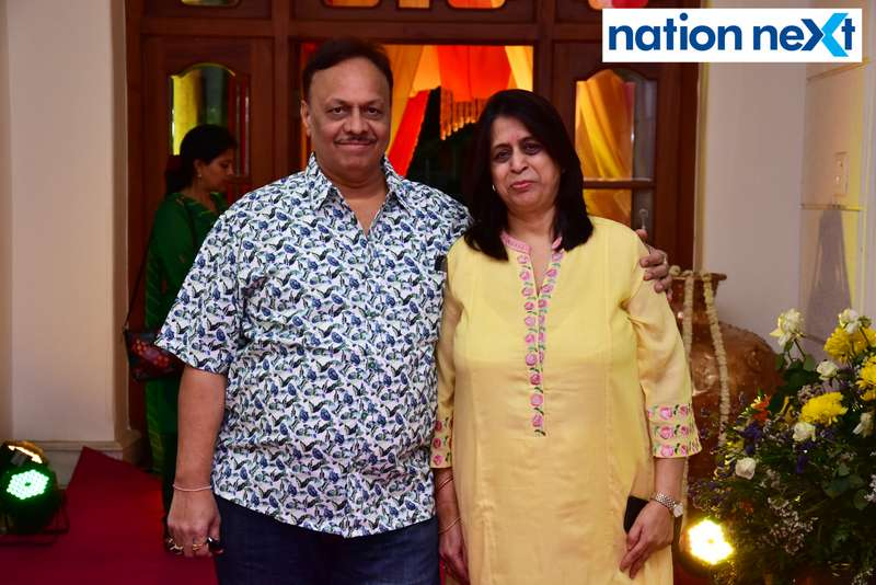 Sunil and Dr Geeta Pedgaonkar during Gondwana Club's Holi party in Nagpur