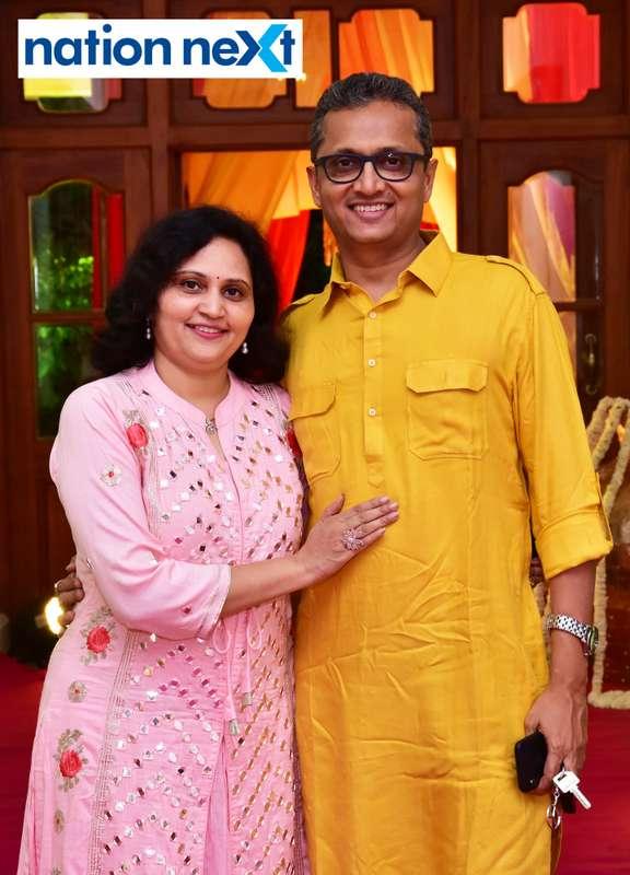 Varsha and Vivek Deshpande during Gondwana Club's Holi party in Nagpur