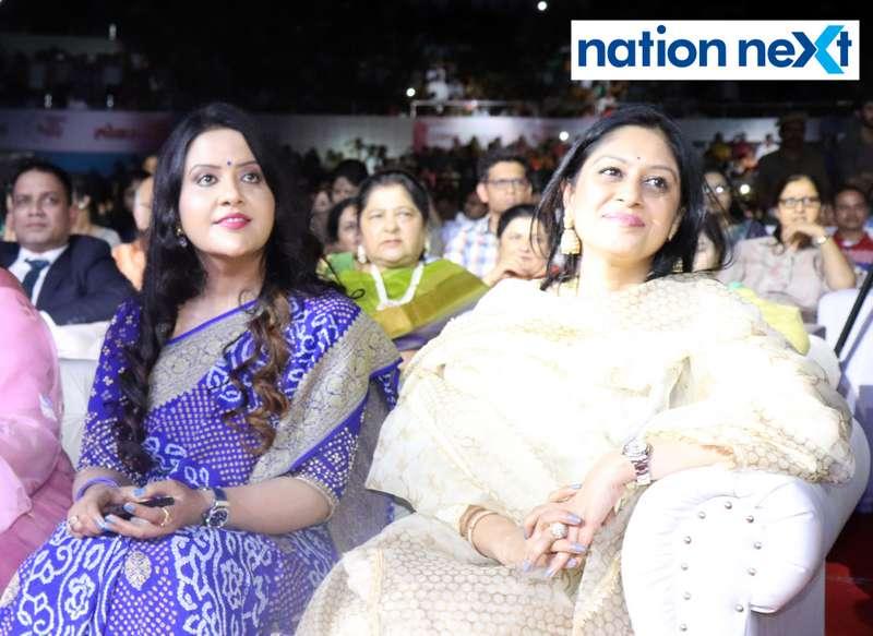 Amruta Fadnavis at Sur Jyotsna National Music Awards 2019 held in Nagpur