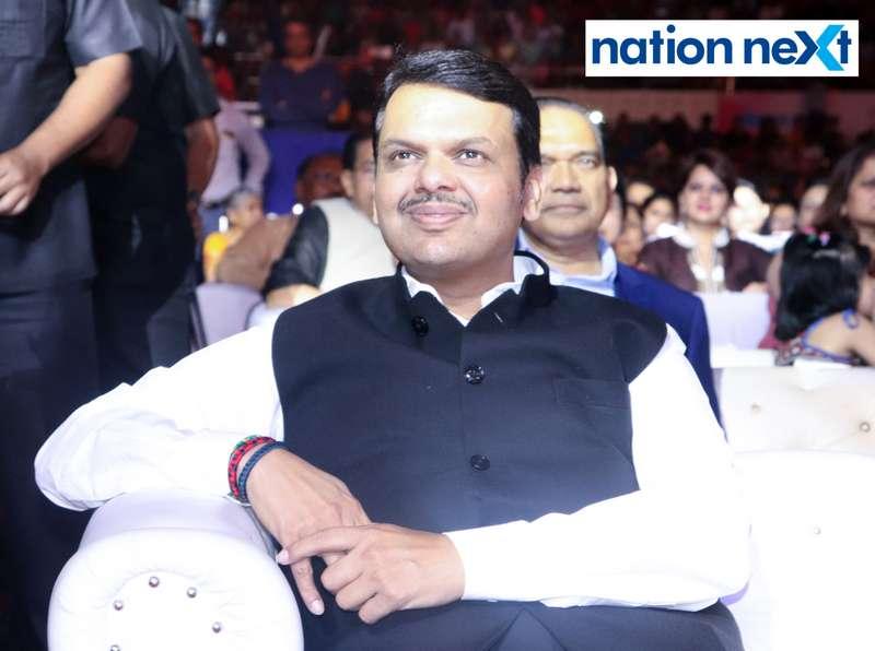 Maharashtra CM Devendra Fadnavis at Sur Jyotsna National Music Awards 2019 held in Nagpur