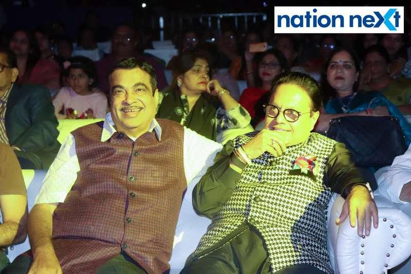 Union Minister Nitin Gadkari and Vijay Darda at Sur Jyotsna National Music Awards 2019 held in Nagpur