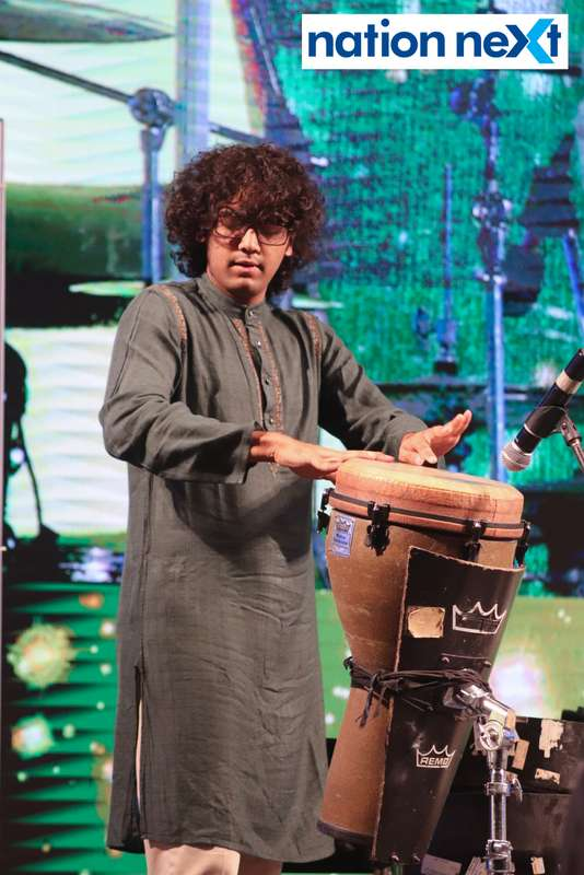 Shikhar Naad Qureshi during his performance at Sur Jyotsna National Music Awards 2019 held in Nagpur