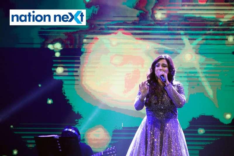 Shreya Ghoshal during her performance at Sur Jyotsna National Music Awards 2019 held in Nagpur