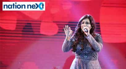 Shreya Ghoshal during her performance at Sur Jyotsna National Music Awards 2019 held in Nagpur