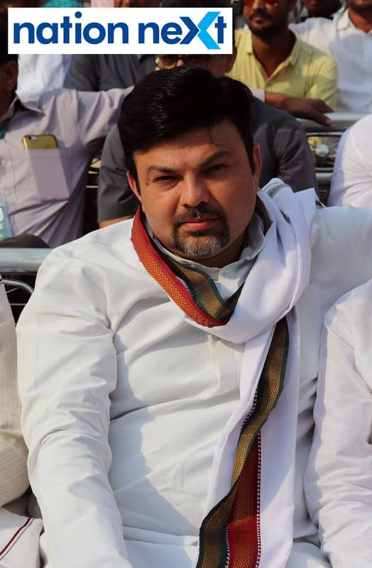 Former MLA Ashish Deshmukh at 'Sarva Shakhiya Kunbi Mahamelawa' held at Dhanwate National College in Nagpur