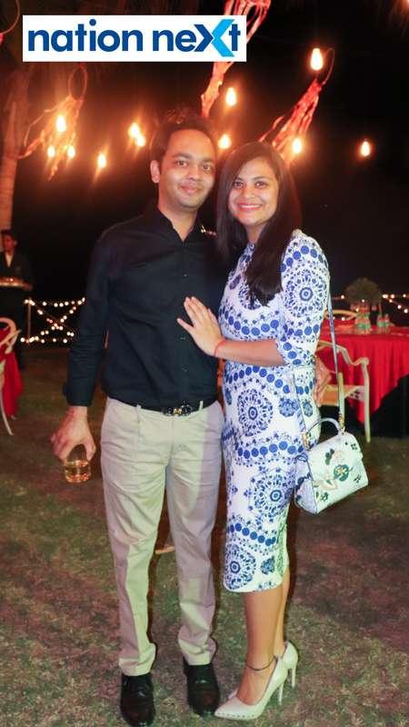 Dr Utsav Agrawal and Dr Rubal Jain during Nagpur Spirits Round Table 258's social meet held at Suraburdi Meadows