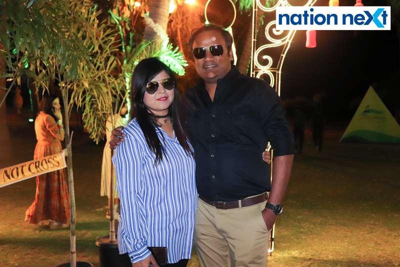 Nishika and Vipul Choudhary during Nagpur Spirits Round Table 258's social meet held at Suraburdi Meadows