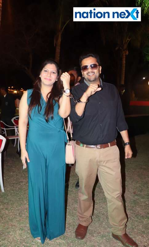 Pooja and Kunal Agrawal during Nagpur Spirits Round Table 258's social meet held at Suraburdi Meadows