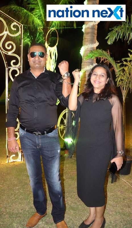 Amit and Shweta Khemka during Nagpur Spirits Round Table 258's social meet held at Suraburdi Meadows