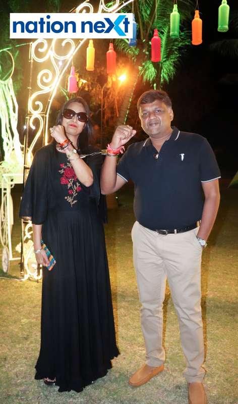 Sonu and Samir Agrawal during Nagpur Spirits Round Table 258's social meet held at Suraburdi Meadows
