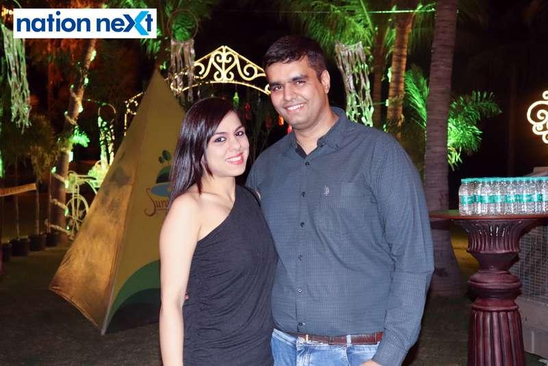 Vinny and Ankush Goplani during Nagpur Spirits Round Table 258's social meet held at Suraburdi Meadows