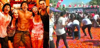 Inspired by film Zindagi Na Milegi Dobara and Spain's 'La Tomatina' festival shown in it, residents of Ahmedabad chose to celebrate Holi with tomatoes.