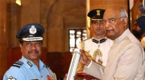 Air Marshal M Baladitya VSM from Nagpur was awarded the Medal by President Ram Nath Kovind on March 19 at a glittering ceremony held at Rashtrapati Bhavan.