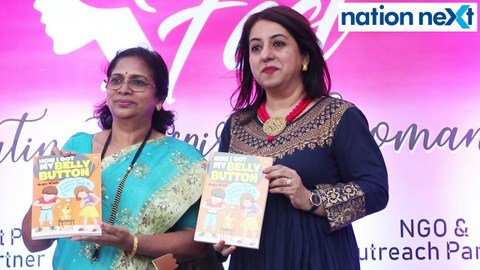 Among much fan fare at 'The She Fest,' with Nation Next (as media partner), celebrated writer Anju Kish spoke about her book 'How I Got My Belly Button.'
