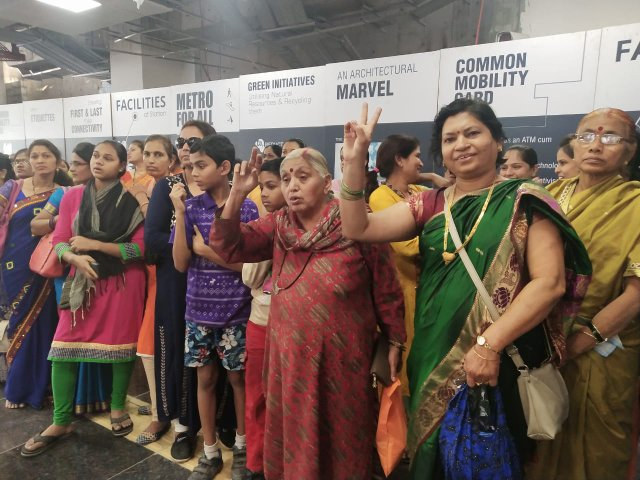 As Nagpur women celebrated International Women's Day in full spirits, they took free metro rides from Sitabuldi metro station to Khapri.