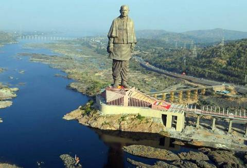 More than 100 disgruntled workers employed at the Statue of Unity in Gujarat went on a strike over non-payment of dues for the last three months