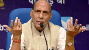 Union Minister Rajnath Singh claimed that the BJP never promised to transfer Rs 15 lakhs into people's bank accounts during the 2014 Lok Sabha campaign.