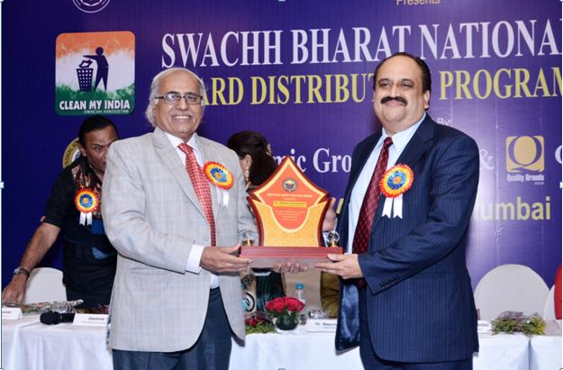 NEHRDO, on April 13, felicitated VICCO director Sanjeev Pendharkar with 'Rashtriya Udyog Pratibha Award' at Hotel Kohinoor Continental in Mumbai.