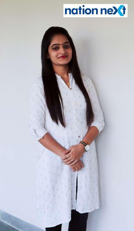 Ashwini Kalmegh during Cindrebay School of Design's graduation ceremony and annual day in Nagpur