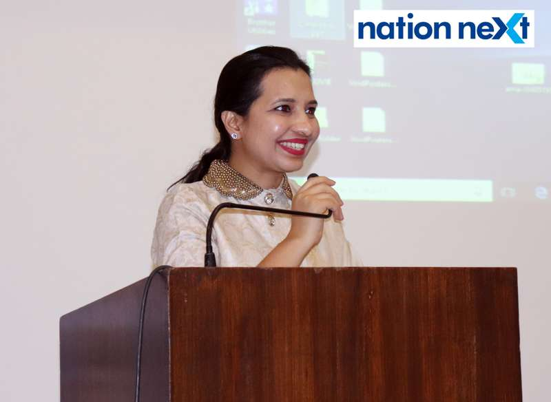 Khushboo Agrawal during Cindrebay School of Design's graduation ceremony and annual day in Nagpur