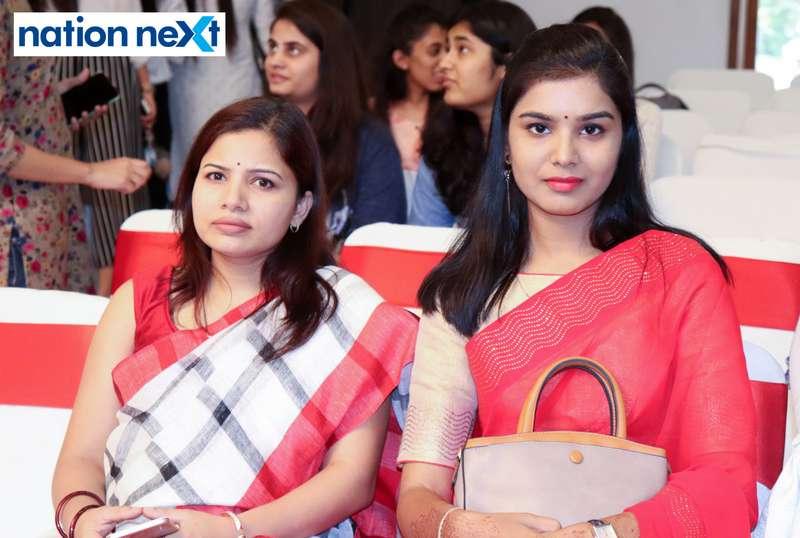 Nita Mangrulkar and Nikita Lahoti during Cindrebay School of Design's graduation ceremony and annual day in Nagpur