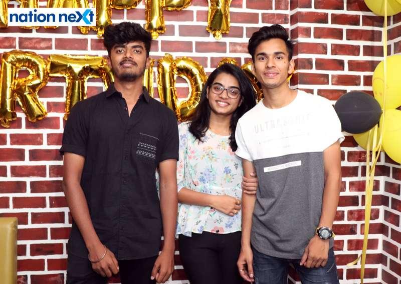 Pranav, Sakshi and Ankit during Farhan Kazi's birthday party in Nagpur