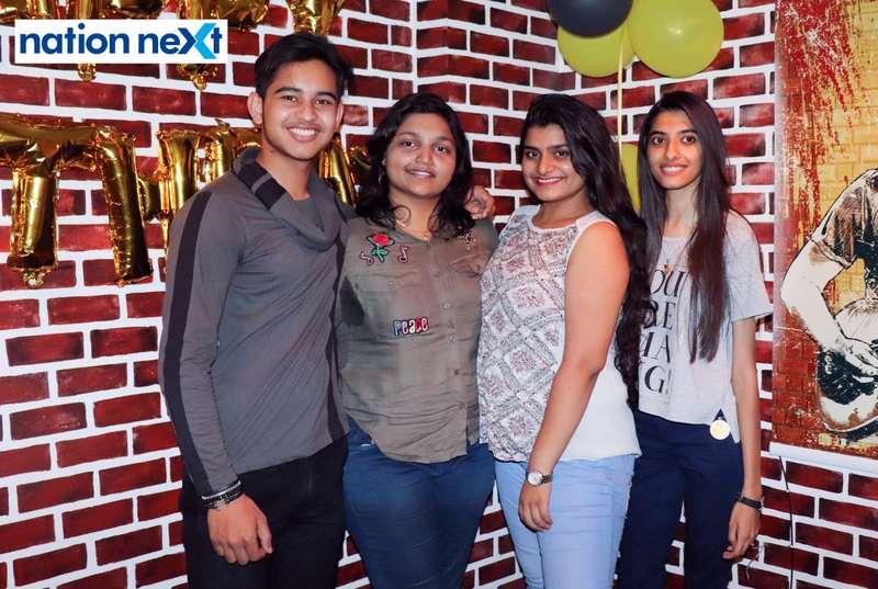 Sanskar, Priyanka, Garima and Riddhi during Farhan Kazi's birthday party in Nagpur