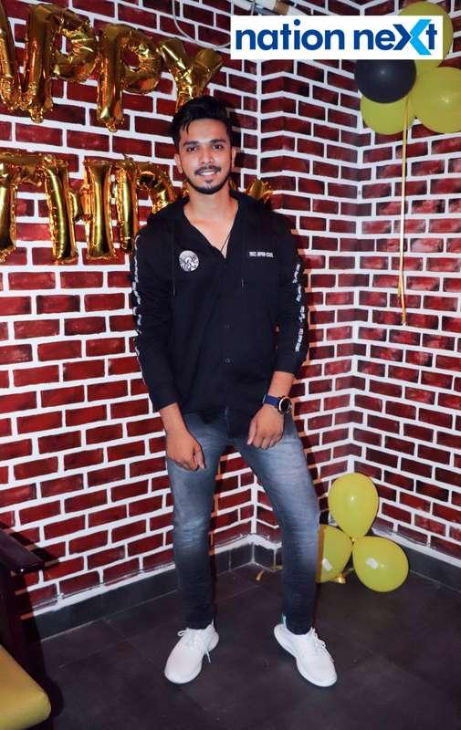 Emcee Farhan Kazi during his birthday party in Nagpur