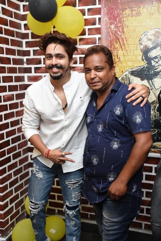 Kick Mehar and Dwarkesh Maindalkar during Farhan Kazi's birthday party in Nagpur