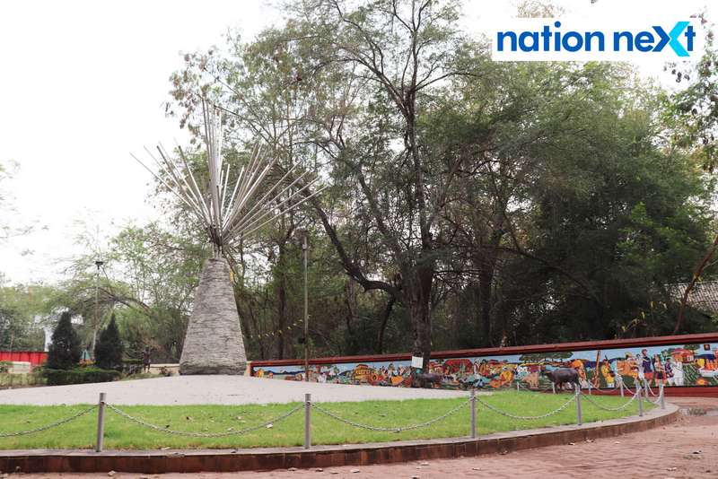 Adivasi Gowari Shahid Memorial in Nagpur. (Photo by: Bhavesh Mahalle/Nation Next)