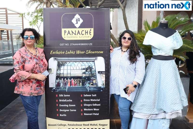 Anita and Jaya Khatri at the Skye Sundowner Pool Party held at Hotel Tuli Imperial in Nagpur