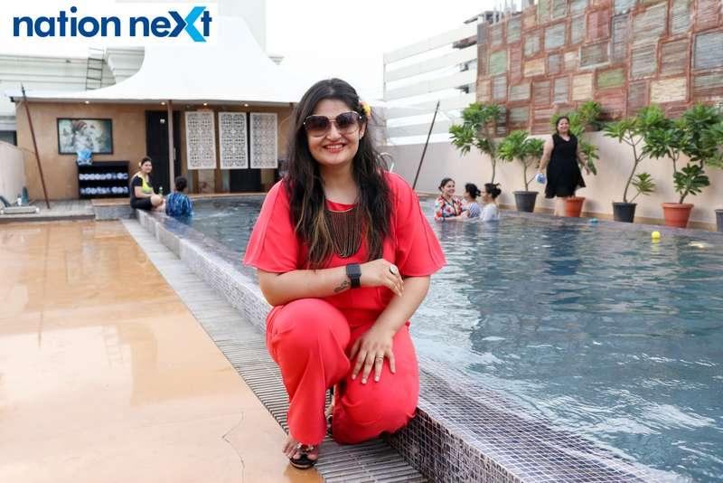 Reet Methai at the Skye Sundowner Pool Party held at Hotel Tuli Imperial in Nagpur