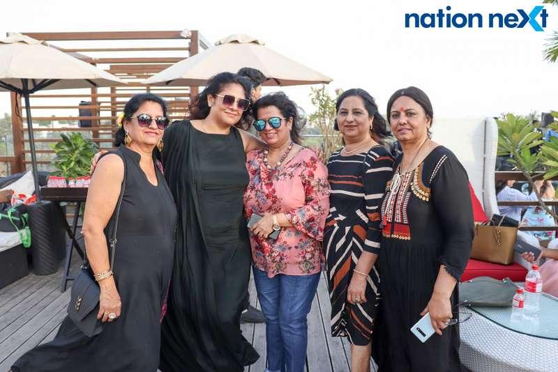 Kanchan Methai, Sangita Chawla, Jaya Khatri, Lakshmi Wadhwani and Deepa Lalwani at the Skye Sundowner Pool Party held at Hotel Tuli Imperial in Nagpur